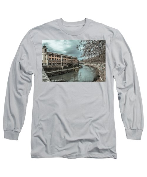 River Tiber Long Sleeve T-Shirt by Sergey Simanovsky