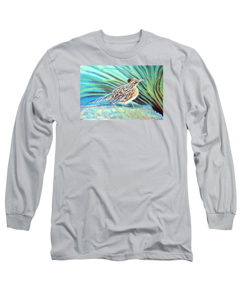 Roadrunner Fluffing Sold   Pastel Long Sleeve T-Shirt by Antonia Citrino