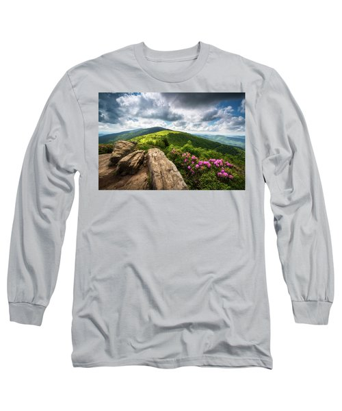 Roan Mountain Radiance Appalachian Trail Nc Tn Mountains Long Sleeve T-Shirt