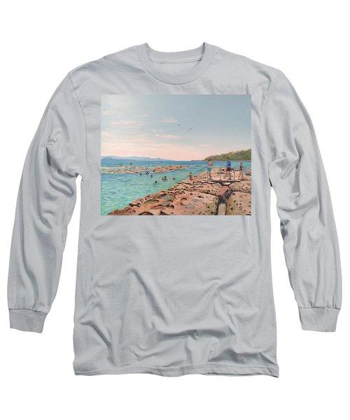 Rock Pool At Currarong Long Sleeve T-Shirt