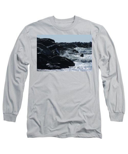 Rocks On The Jetti At Cocoa Beach Long Sleeve T-Shirt