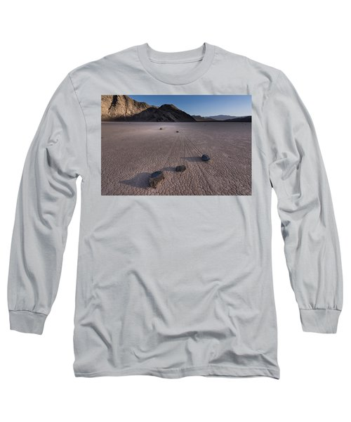 Rocks On The Racetrack Death Valley Long Sleeve T-Shirt