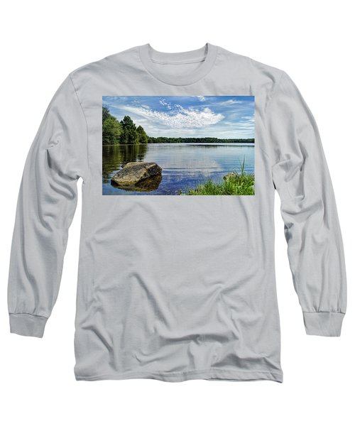 Rocky Fork Lake Long Sleeve T-Shirt by Cricket Hackmann