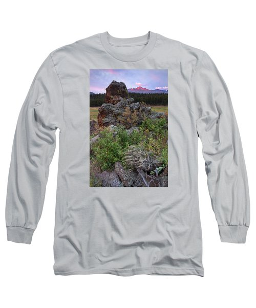 Rocky Mountain Sunrise Long Sleeve T-Shirt by John Vose