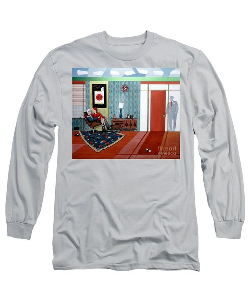 Roger Sterling And Joan Sitting In An Eames Long Sleeve T-Shirt