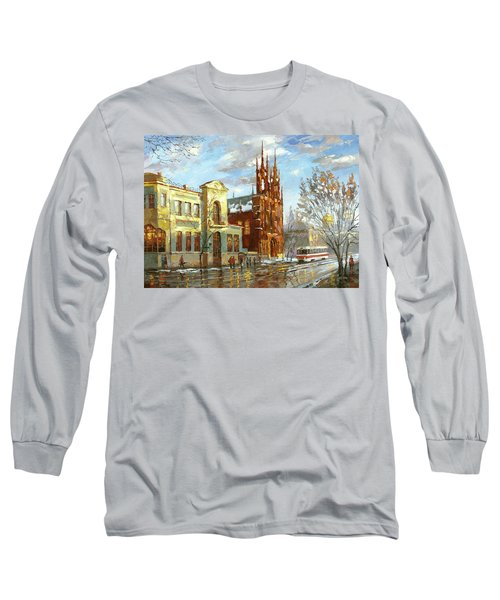 Long Sleeve T-Shirt featuring the painting Roman Catholic Church by Dmitry Spiros