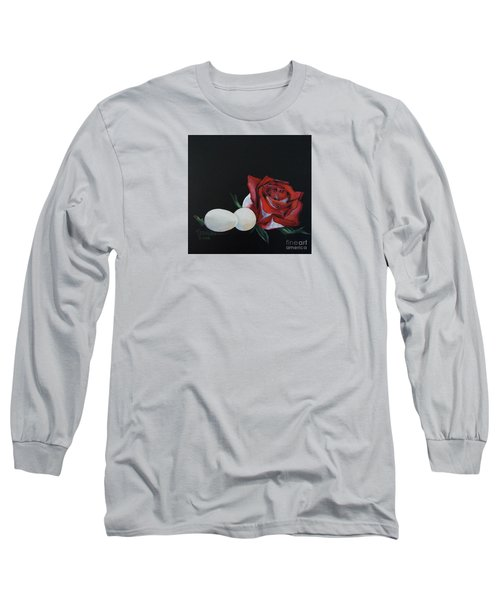 Rose And The Eggs Acrylic Painting Long Sleeve T-Shirt by Shelley Overton