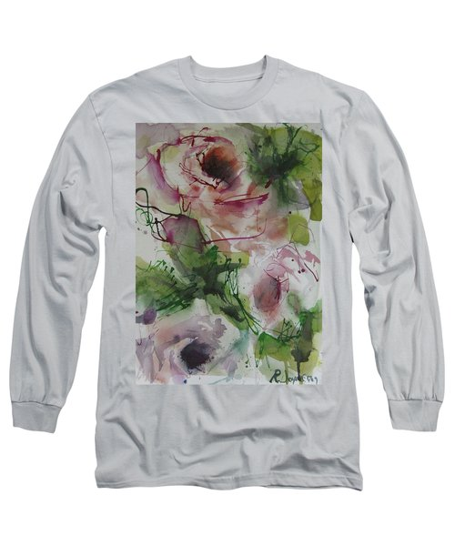 Long Sleeve T-Shirt featuring the painting Rosebuds by Robert Joyner