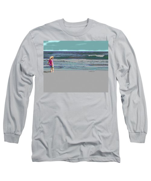 Rosie On The Beach Long Sleeve T-Shirt