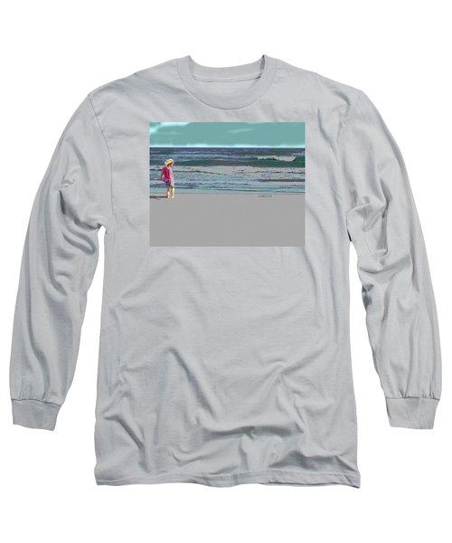 Rosie On The Beach Long Sleeve T-Shirt