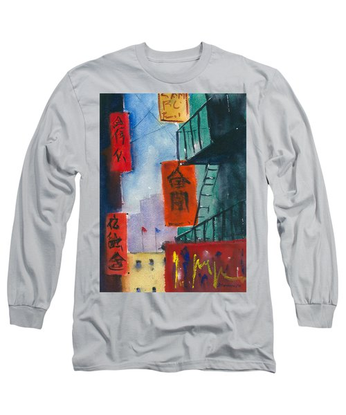 Ross Alley, Chinatown Long Sleeve T-Shirt by Tom Simmons