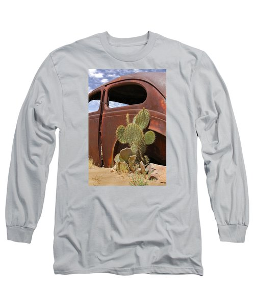 Route 66 Cactus Long Sleeve T-Shirt by Mike McGlothlen