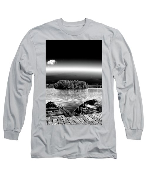 Long Sleeve T-Shirt featuring the photograph Rowboats At The Dock 3 by David Patterson