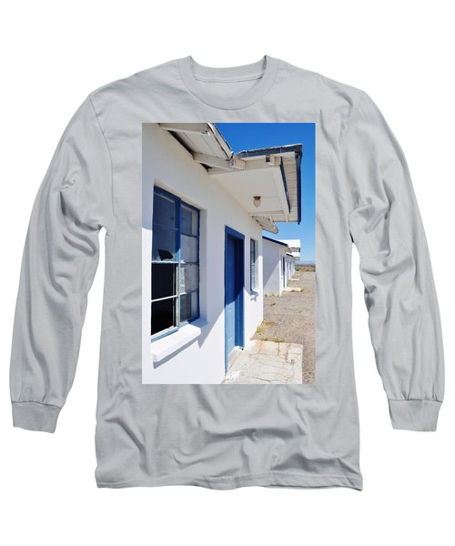 Roy's Motel And Cafe Auto Court Long Sleeve T-Shirt by Kyle Hanson