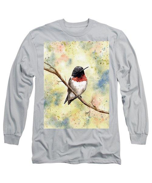 Ruby Throated Hummingbird Long Sleeve T-Shirt