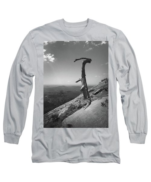 Ruins Of A Tree At Table Rock Trail Overlook Two Long Sleeve T-Shirt by Kelly Hazel