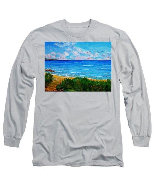 Rullsands Beach / Sweden-gaevle Long Sleeve T-Shirt