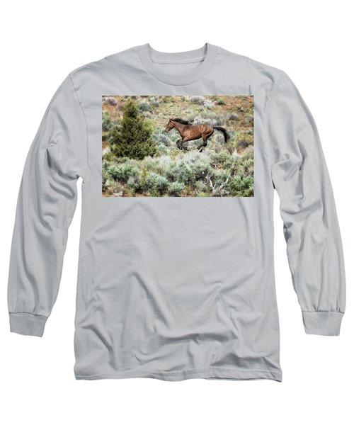 Running Through Sage Long Sleeve T-Shirt