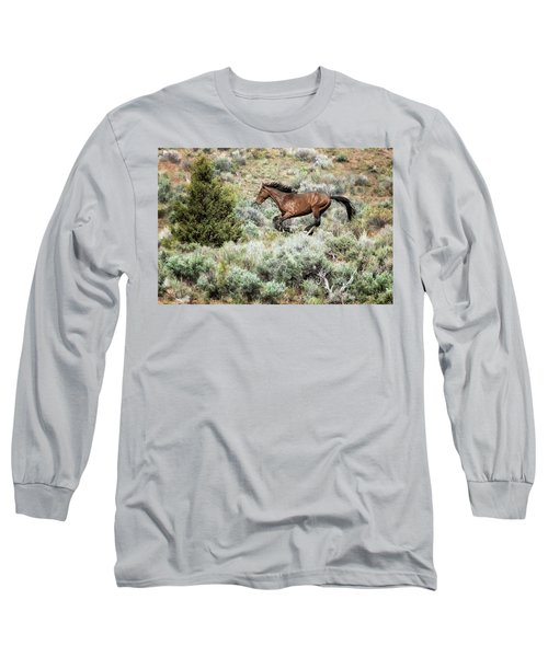 Running Through Sage Long Sleeve T-Shirt