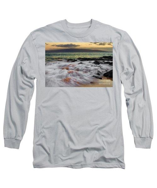 Running Wave At Keawakapu Beach Long Sleeve T-Shirt