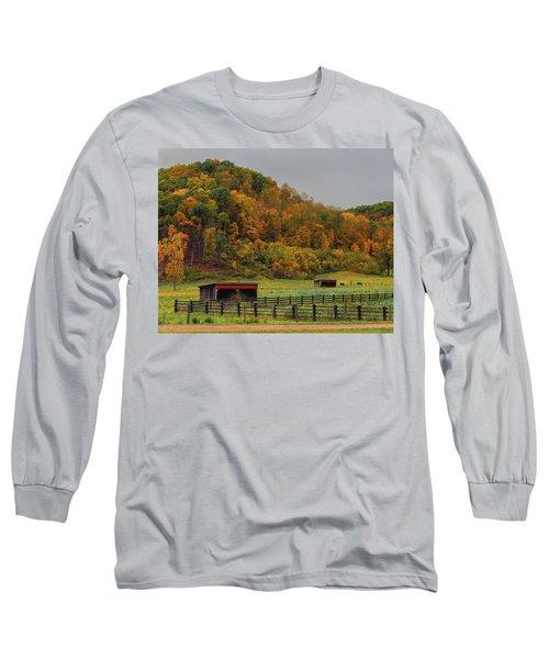 Rural Beauty In Ohio  Long Sleeve T-Shirt