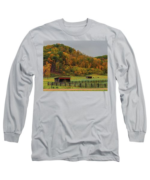 Rural Beauty In Ohio  Long Sleeve T-Shirt