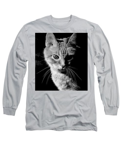 Rustie, Blind, Deaf Extroadinaire Black And White Long Sleeve T-Shirt by Antonia Citrino