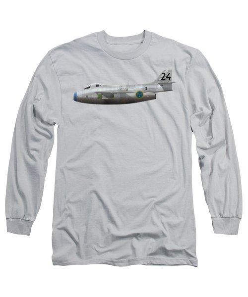 Saab J 29f Tunnan - 29606 - Side Profile View Long Sleeve T-Shirt