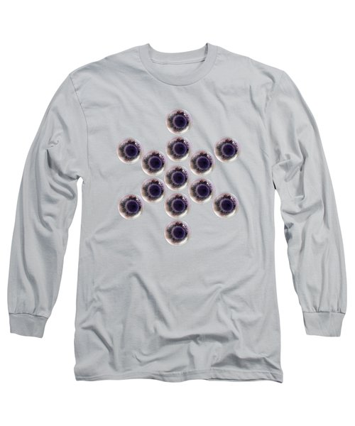 Long Sleeve T-Shirt featuring the digital art Sacred Geometric Symbol Anemone Center by Rachel Hannah