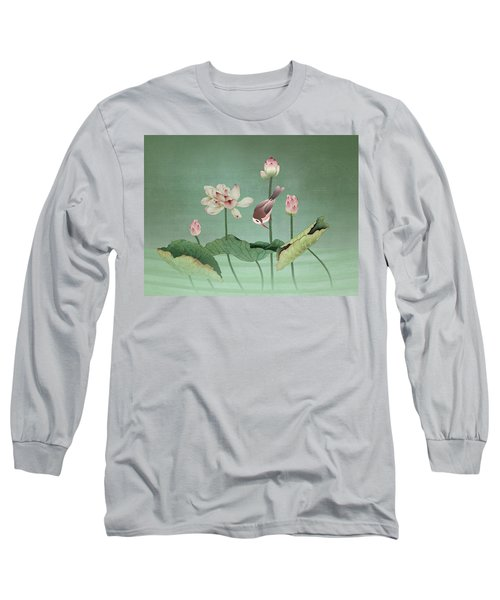 Sacred Lotus Flower Long Sleeve T-Shirt