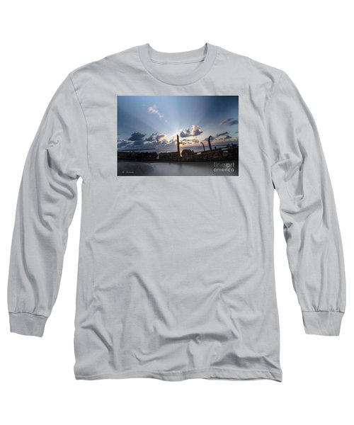 Safe Shore 02 Long Sleeve T-Shirt by Arik Baltinester