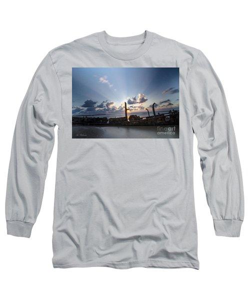 Long Sleeve T-Shirt featuring the photograph Safe Shore 02 by Arik Baltinester
