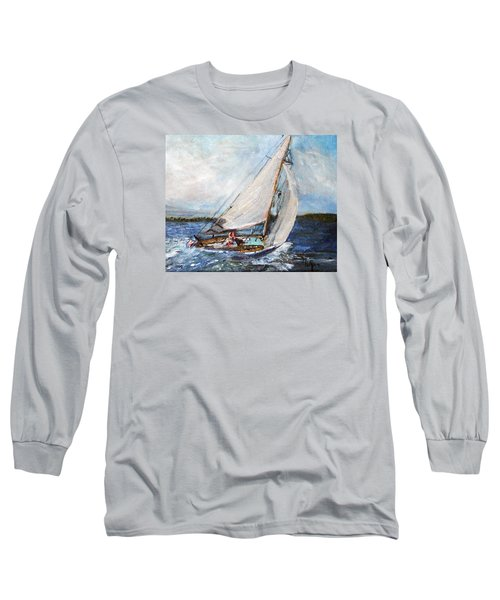 Sail Away Long Sleeve T-Shirt by Michael Helfen