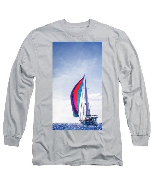 Long Sleeve T-Shirt featuring the photograph Sail Away by Scott Kemper
