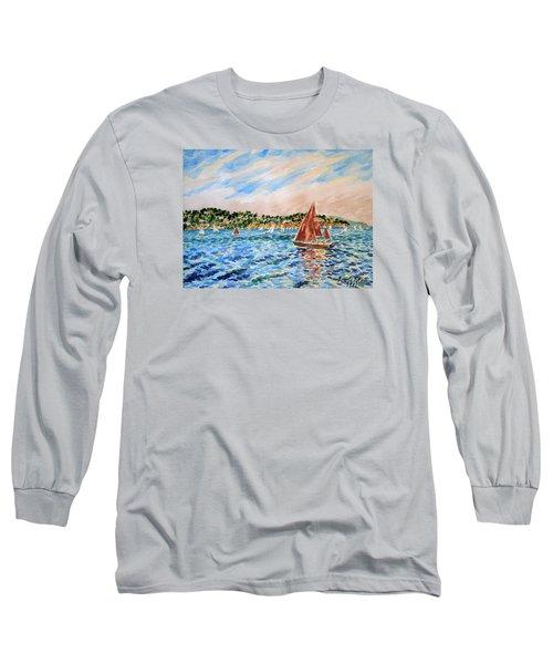 Sailboat On The Bay Long Sleeve T-Shirt