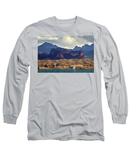 Sailing Past The Sleeping Dragon Long Sleeve T-Shirt