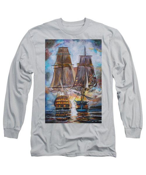 Sailing Ships At War. Long Sleeve T-Shirt