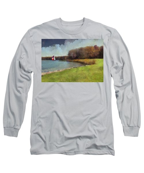 Sails On Lake Wampum Long Sleeve T-Shirt