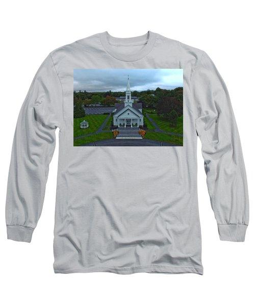 Saint Mary's Church From Above Long Sleeve T-Shirt