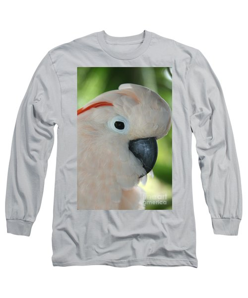Salmon Crested Moluccan Cockatoo Long Sleeve T-Shirt by Sharon Mau