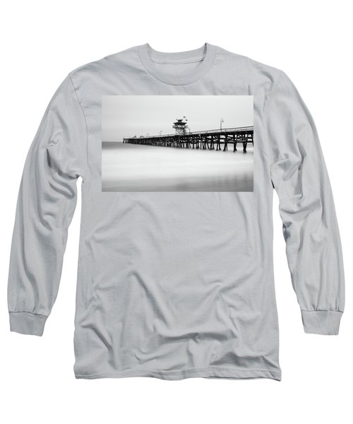 San Clemente Pier Long Sleeve T-Shirt by Tassanee Angiolillo