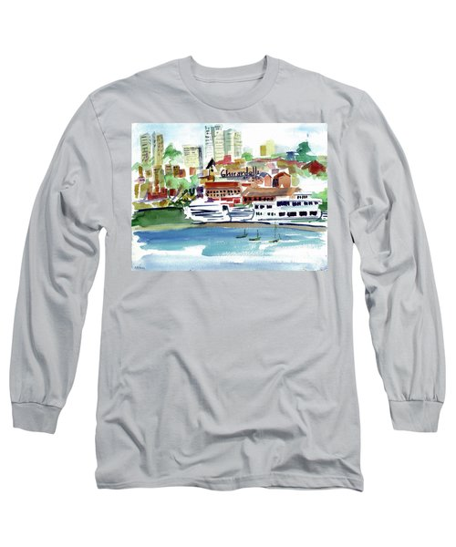 San Francisco Cityfront From Aquatic Park Long Sleeve T-Shirt by Tom Simmons