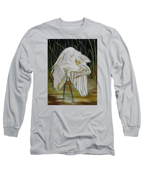 Long Sleeve T-Shirt featuring the painting Sanctuary by Phyllis Beiser