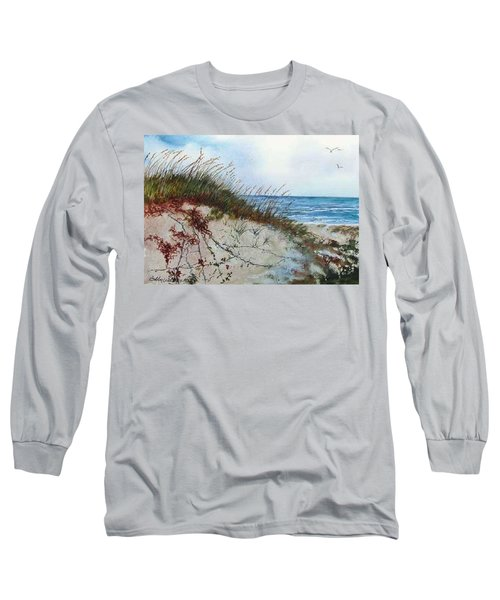 Sand Dunes And Sea Oats Long Sleeve T-Shirt