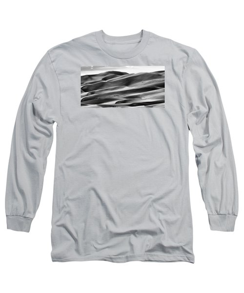 Long Sleeve T-Shirt featuring the photograph Sand Dunes And Shadows by Monte Stevens