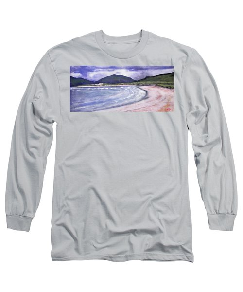 Long Sleeve T-Shirt featuring the painting Sands, Harris by Richard James Digance