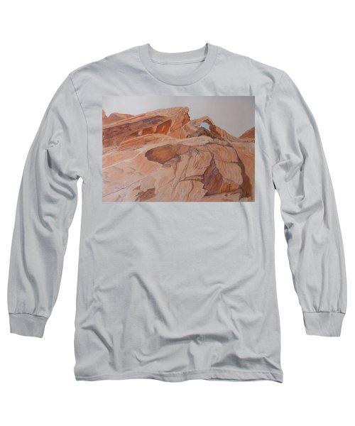 Long Sleeve T-Shirt featuring the painting Sandstone Rainbow by Joel Deutsch