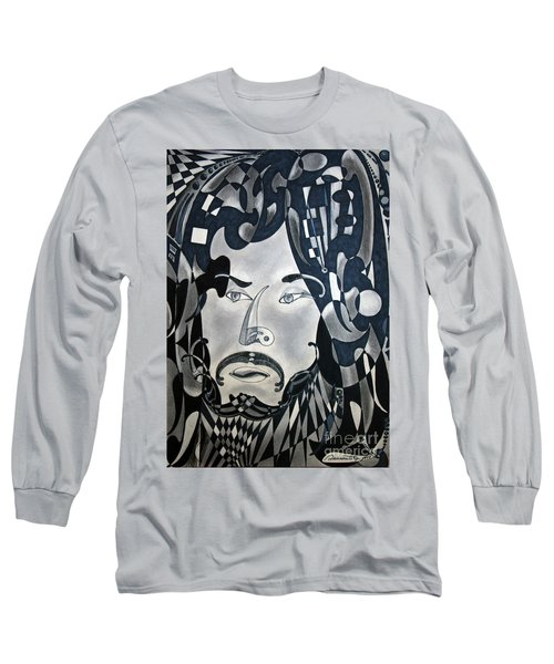 Long Sleeve T-Shirt featuring the drawing Sansonetti Man by Gino Sansonetti