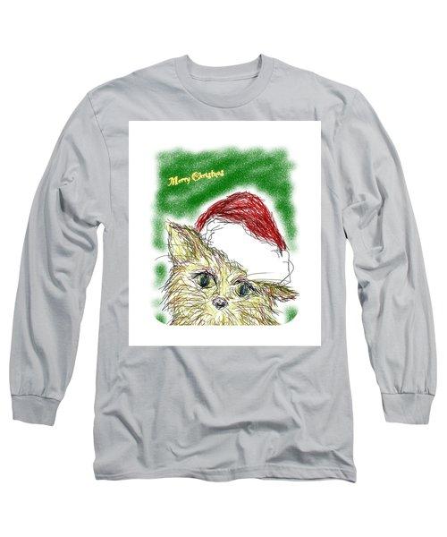Santa Cat Long Sleeve T-Shirt