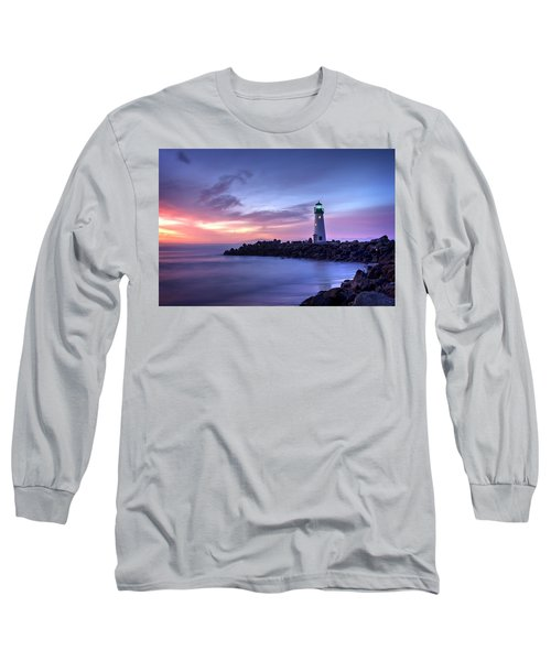 Santa Cruz Harbor Mouth Sunrise Long Sleeve T-Shirt